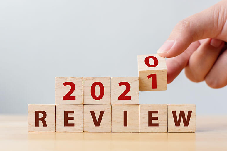 2020-2021 blocks someone is putting on top of each other saying review underneath