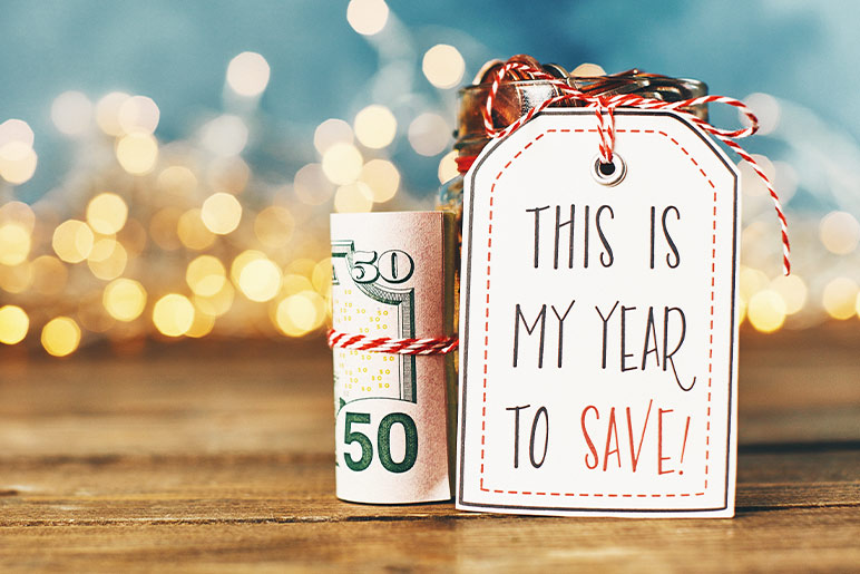 This is my year to save more money label card